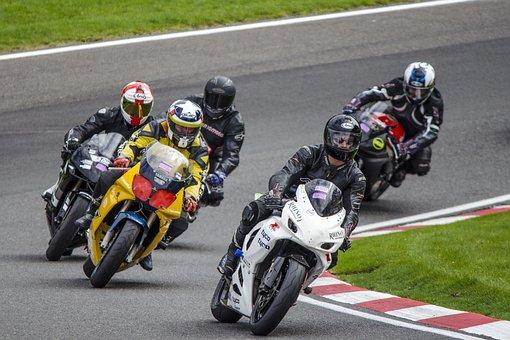 moto, course, vélo