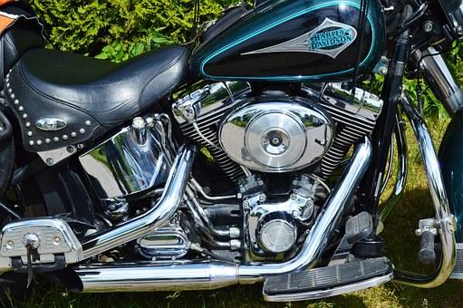 moto, harley davidson, unité de moteur