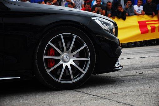 voiture, drag race, véhicules