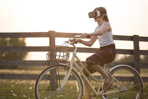 réalité augmentée, vélo, enfant